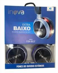 Fone de Ouvido P2 Extra Baixo Inova FON-8637