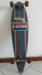 Skate Longboard Stand Up c/ lixa incolor e rolamentos ABEC 5