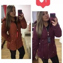 Jaquetas Reversível, tamanho M, confecção pequena serve P R$ 149,00