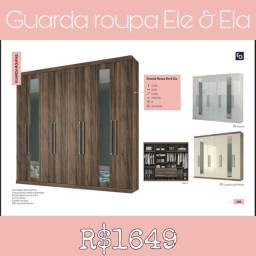 GUARDA ROUPA DE CASAL ELE e ELA ENTREGO E MONTO