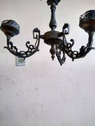 Lustre antigo bronze envelhecido