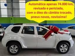 Título do anúncio: Renault Duster Automática, 74.000 km, placa A, revisada e periciada, novíssima!