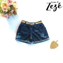 Short Jeans Infantil - Short Destroyed - Mini Influencer