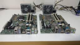 Duas placa mãe HP 1155 + 2 Pentium 3 geração + 2fontes hp