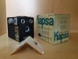Câmera Fotográfica Antiga na Caixa Original