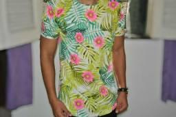 Camisa long floral