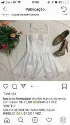 Vestido branco e sapato