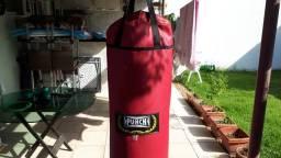 """Saco de Pancada """"Punch"""" 1,20m em couro"""