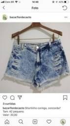 Short jeans TAM 42 pequeno
