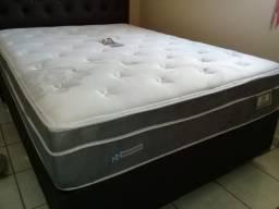 ::: Conjunto Cama Box Colchao Pronix Sealy Colchao Casal 138x188 A Pronta Entrega