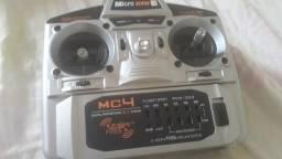 Radio controle micro zone mc4 mais 2 servos