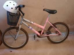 Bike aro 20 infantil com capacete