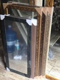 Espelho com Moldura 93x43cm *Novo