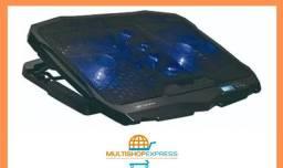 Base Suporte Gamer LED com 4 Coolers para Notebook