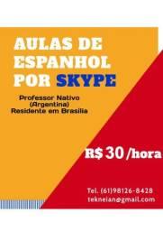 Aulas de Espanhol por Skype R$30/hora (Professor Nativo)