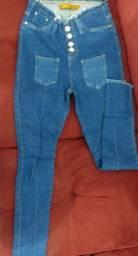 Calça Jeans Cintura Alta Tam.38 serve 40