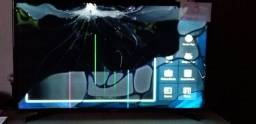 04 Televisores Smart Samsung telas danificadas quebradas