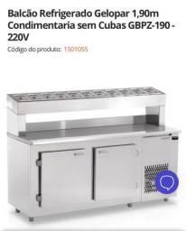 Balcão refrigerador para pizzaria