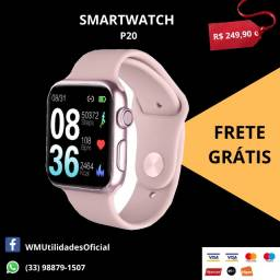 Smartwatch Relógio Inteligente P20 Troca Pulseira Rosa