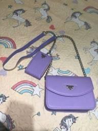Bolsa tira-colo lilás