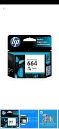 Cartucho de tinta HP colorido, novo na caixa com nota fiscal