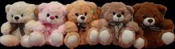 Kit com 5 ursos  de pelúcia