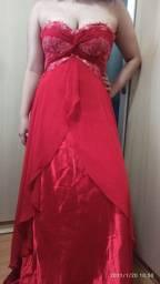 Vestido de festa 100% seda