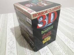 Box dvd importado com 3 filmes classicos em 3D.