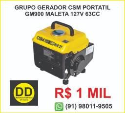 Grupo Gerador Csm Portatil Gm900 Maleta 127v 63Cc