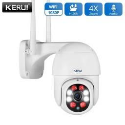 Câmera Inteligente de segurança IP full hd 1080p, prova d'água, sensor de movimentos