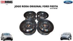 Jogo Roda Ferro 14 Original Fiesta