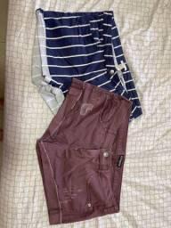 Shorts coloridos tam 44/46 R$50 cada