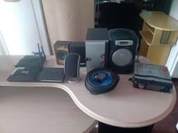 Rádio carro, caixa de som e Adsl - reis