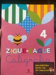 Livro de caligrafia zigue-zague