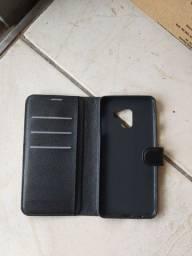 Capa case flip  smartphone Samsung A 8 plus