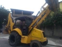 retroescavadeira escavadeira trator
