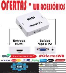 Adaptador HDMI Para VGA - ENTREGA GRÁTIS