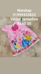 Vestido Princesas Vários Tamanhos