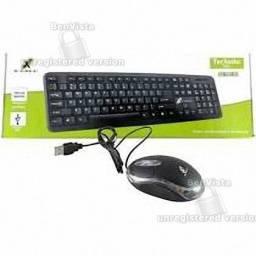 Kit Teclado E Mouse Slim Usb com fio Xc-cb-03 - X-cell