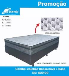 colchão e base para cama de casal em promoção