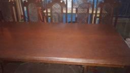 Mesa de sucupira com 6 cadeiras maciça