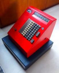 Linda caixa registradora Argus de 1977, máquina registradora funciona