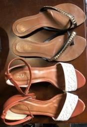 Lote 2 sandalias por R$20,00
