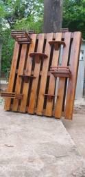 Pallet rústico - cachepot - base para plantas - Jardim vertical