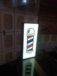 Luminoso barbearia, placa led painel