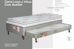 Cama Box com Pillow e Cama Auxiliar Luxo D28