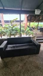 Sofa courino ideal lounge bar boate residencia