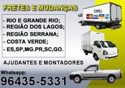 Fretes e Mudanças Tijuca, Centro do Rio, Toda Zona Sul e Barra