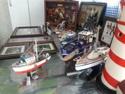 Quadros e Barcos em miniatura