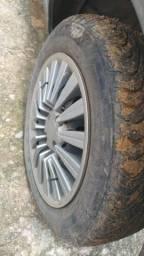 Troco rodas 14 de ferro com pnel semi novos por roda de liga leve com pnel aro 15
